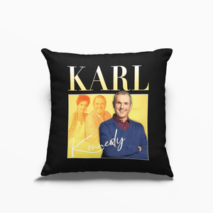 Karl Kennedy Neighbours Poly Linen Throwback Cushion - Timeless Tees