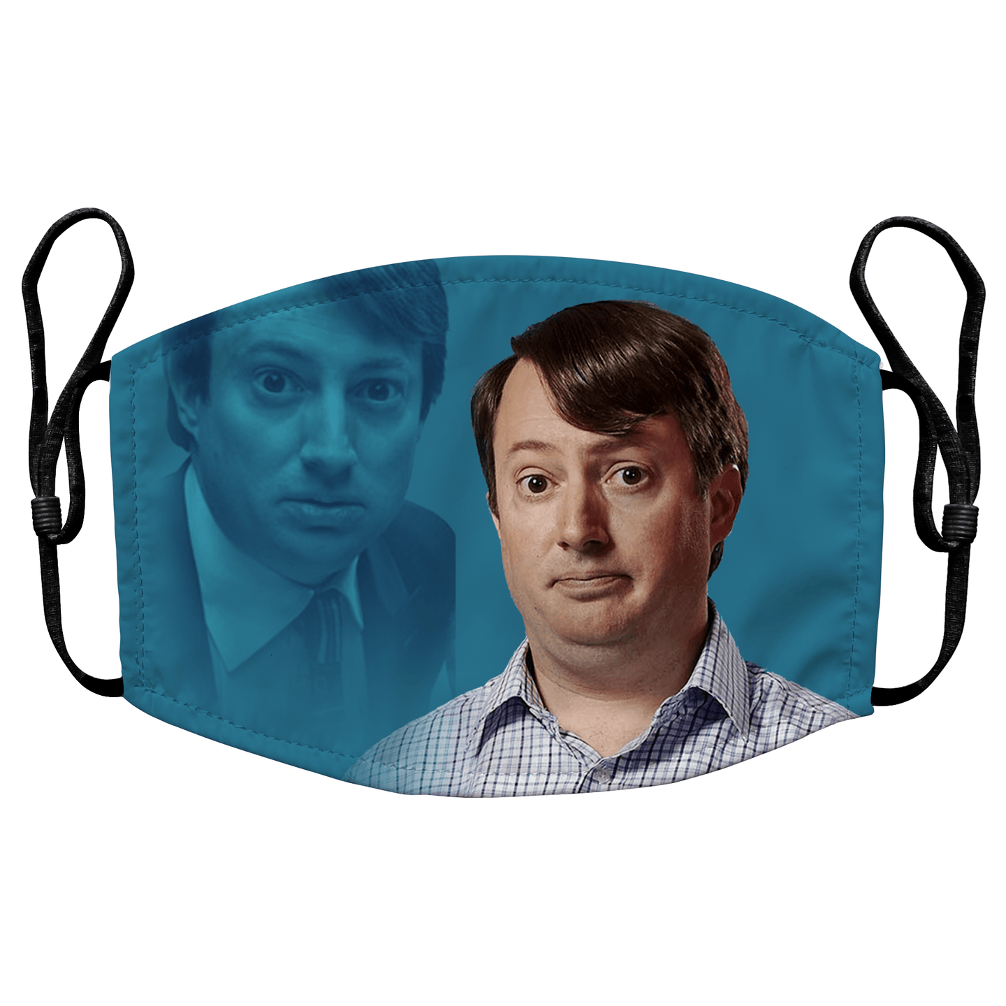 Mark Corrigan Peep Show Reusable Premium Face Mask Cover with Filters - Timeless Tees