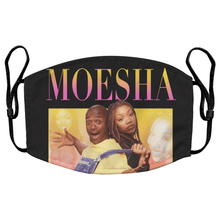 Load image into Gallery viewer, Moesha Reusable Premium Face Mask Cover with Filters - Timeless Tees