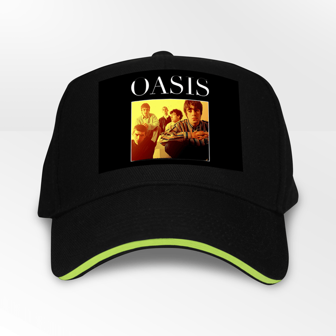 Oasis 90s Rock 5 Panel Throwback Cap - Timeless Tees
