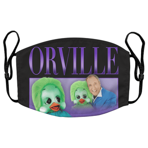 Orville the Duck Keith Harris Reusable Premium Face Mask Cover with Filters - Timeless Tees