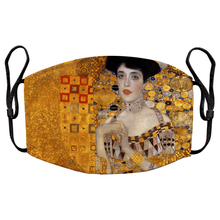 Load image into Gallery viewer, Portrait of Adele Bloch-Bauer I by Gustav Klimt Reusable Premium Face Mask Cover with Filters - Timeless Tees
