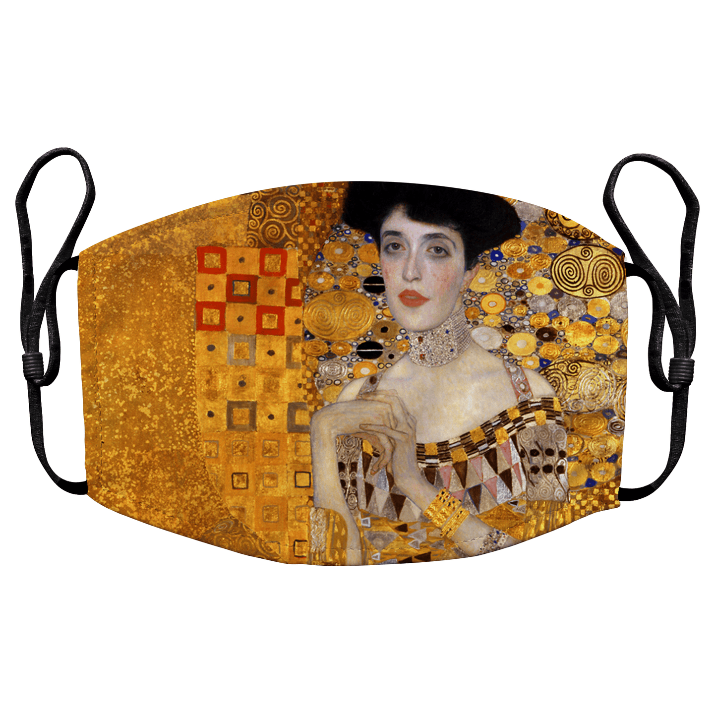 Portrait of Adele Bloch-Bauer I by Gustav Klimt Reusable Premium Face Mask Cover with Filters - Timeless Tees
