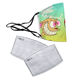 Ren & Stimpy Reusable Premium Face Mask Cover with Filters - Timeless Tees