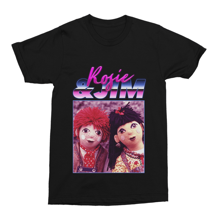 Rosie and Jim Retro Unisex Vintage Throwback Homage T-Shirt - Timeless Tees