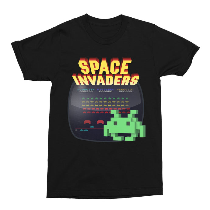 Space Invaders Retro 80s Gaming Unisex Vintage Throwback T-Shirt - Timeless Tees