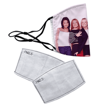 Load image into Gallery viewer, Spice Girls Reusable Premium Face Mask Cover with Filters - Timeless Tees