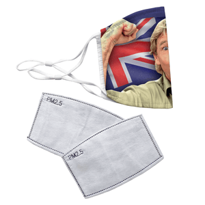 Steve Irwin The Crocodile Hunter Reusable Decorative Face Mask with Filters - Timeless Tees