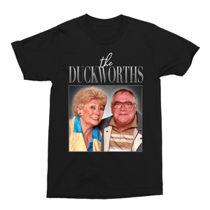 The Duckworths Coronation Street Jack and Vera Duckworth Unisex Vintage Throwback T-Shirt - Timeless Tees