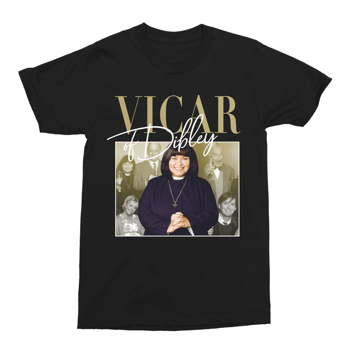 Vicar of Dibley 90s TV Show Unisex Vintage Throwback T-Shirt - Timeless Tees