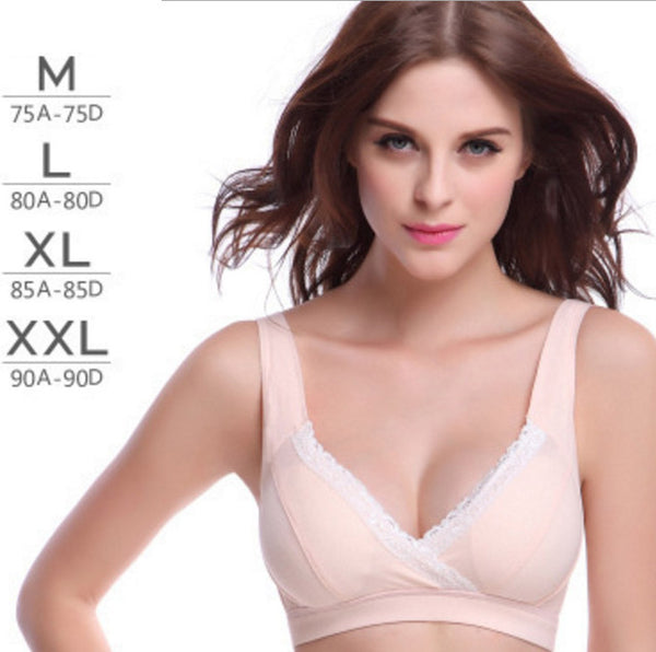 Woman's No rims 100% all cotton Bra Simple and comfortable solid color wire free bras lingerie - glamuro-fashion.com