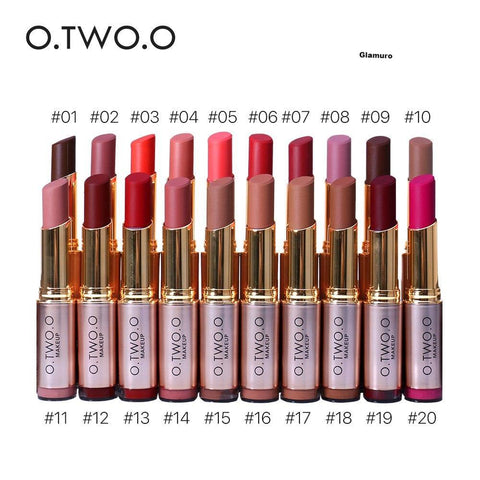 O.TWO.O 20 pcs / Kit  Maquillage Rouge À Lèvres  Matte lèvre Imperméable - glamuro-fashion.com