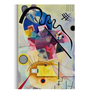Colorful Abstract Canvas Wall Art by Wassily Kandinsky, Modern Wall Painting Hanging Decor - Hencely