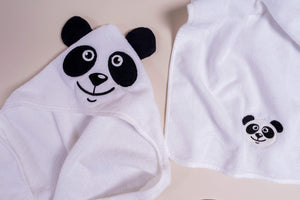 Panda Baby Hooded Bathrobe | Baby Towel Set