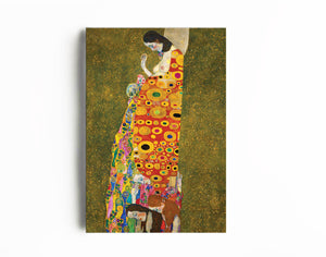 """Gustav Klimt- The Hope"" Art Reproduction, Canvas Painting Decor & Wall Art - Hencely"
