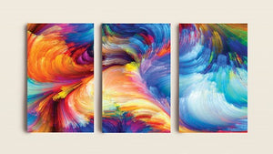 Full Color Rainbow | Canvas Painting Decor | Modern Canvas Wall Art - Hencely