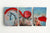Il cavallo scarlatto | Set di decorazioni murali in tela | Quadro su tela Art Deco - Hencely