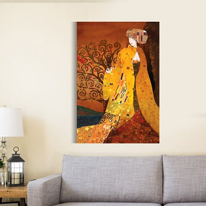 Gustav Klimt Effect Canvas Painting Decor & Canvas Picture Poster - Hencely