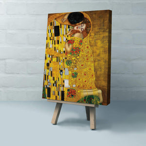 Gustav Klimt's The Kiss  Canvas Art Reproduction Canvas Art Deco Wall Hanging - Hencely
