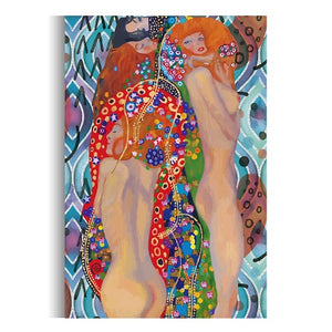 """Ladies"" By Gustav Klimt - Art Print Reproduction & Canvas Wall Art Painting - Hencely"