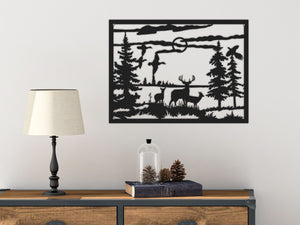 Woods Decorative Metal Wall Panel & Animals Metal Wall Decor - Hencely