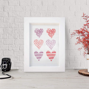 """Full of Hearts"" Framed Canvas Art Deco & Home Decor Accessories - Hencely"