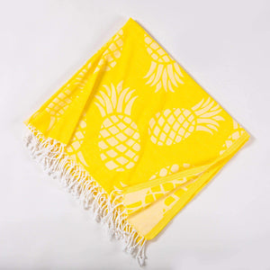 Hencely Pineapple Print Beach Towel - Hencely