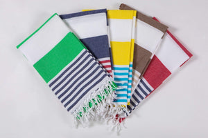 Bold Stripes | Beach Towel | Multiple Colors | % 100 Turkish Cotton | Sandfree  Quickdry - Hencely