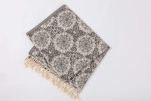 Beach towel gray jacquard - Hencely