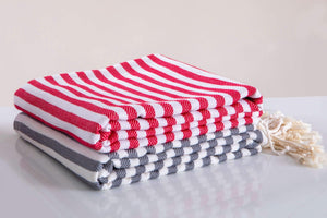 Hencely 100% Cotton Soft Quick Dry Beach Towels - 17 Colors