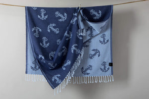 Anchors beach Towels  % 100 Turkish Cotton  Nautical Beach Blanket - Hencely