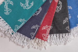 Anchors  Beach Towels % 100 Turkish Cotton