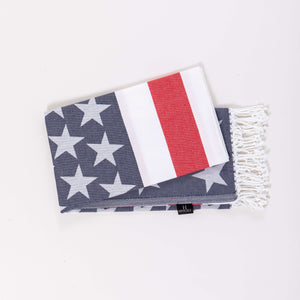 Turkish cotton american flag printed beach towel