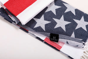 beach towel american flag