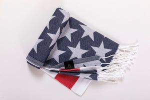 US flag print beach towel