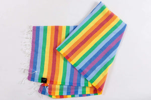 PRIDE | LGBTQ Beach Towel | % 100 Turkish Cotton Beach Cover Up |Sandfree & Lightweight - Hencely