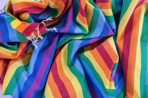 Rainbow %100 Cotton Beach Towel, LGBTQ Pride Beach Cover Up - Hencely