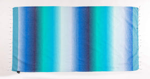Rainbow Hombre Stripes | Beach Towel |  %100 Turkish Cotton | Sandfree & Quickdry - Hencely