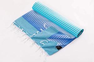 Hencely Rainbow  Striped Beach Towel - Hencely