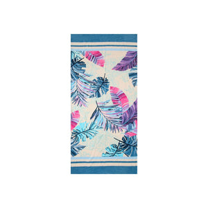 Palm Leaves Beach Towel Turquoise - Hencely