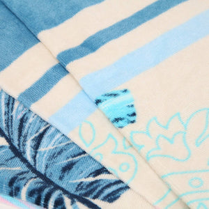 Palm Leaves Beach Towel Turquoise