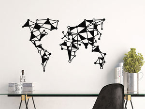 Metal World Map for Home and Office Decoration