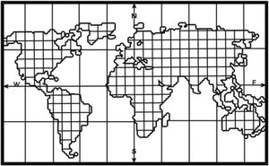 Grid Shaped Metal World Map - Hencely