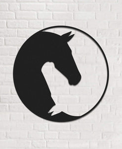 Minimalist Horse Wall Decor & Round Metal Wall Art - Hencely