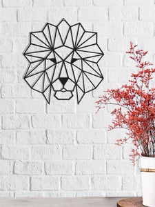 The Lion Head: arte decorativo de pared de metal | Decoración de pared de metal - Por lo tanto