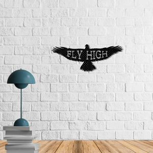 The Eagle Metal Wall Art | Fly High Metal Wall Decor - Hencely