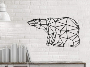The Bear | Metal Wall Art | | Figurative Metal Wall Hanging - Hencely