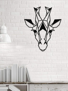 Giraffe head Metal Wall Hanging - Hencely