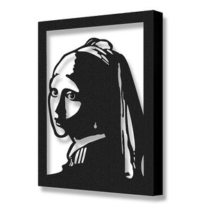 Vermeer's Girl with Pearl Earring | Johannes Vermeer Metal Art Reproduction | Metal Wall Hanging - Hencely