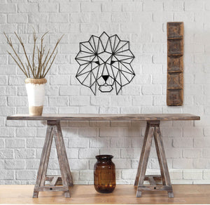 The Lion Head Decorative Metal Wall Art - Hencely